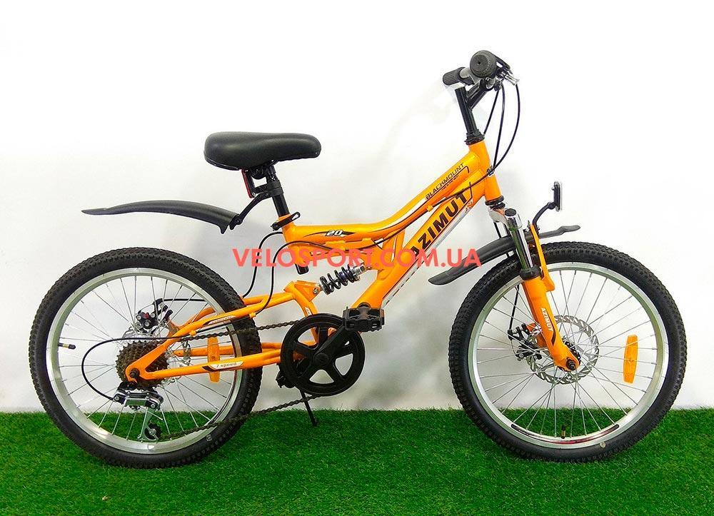 Детский велосипед Azimut Blackmount GD 20 дюймов оранжевый