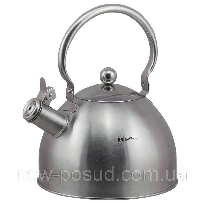 Чайник со свистком из нержавеющей стали 2 л Rainstahl RS 7613-25