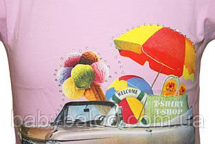 """Футболка детская """"Мороженое""""(рост от 92 до 110 см), фото 2"""