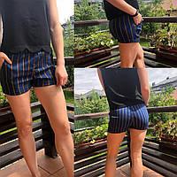 Модные женские шорты в полоску
