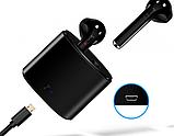 Бездротові Bluetooth-навушники i7S TWS 2 шт з кейсом для зарядки Black, фото 4