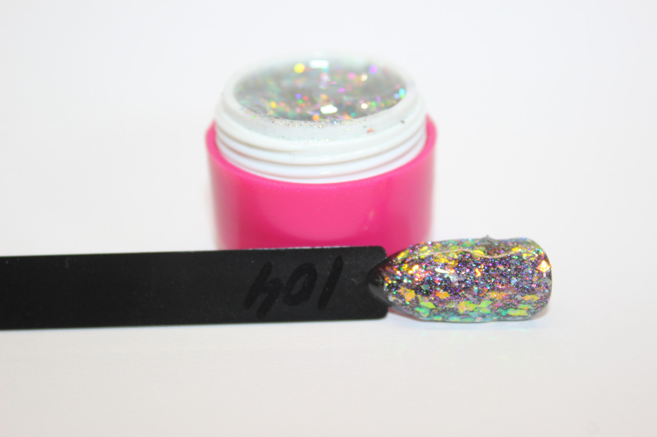 Professional  UV/LED жидкая Shimmer паста 6мл. Германия. №104