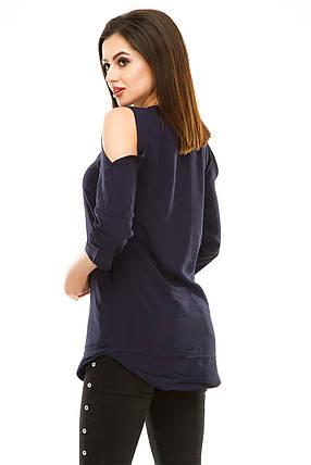 Блузка 300 темно-синяя, фото 2