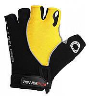 Велоперчатки PowerPlay 5019B S Black-Yellow