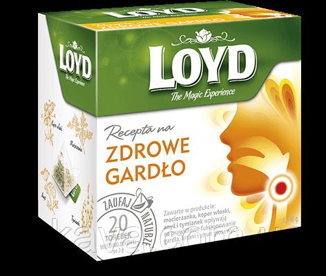 Чай травяной LOYD для здорового горла, 20 пак