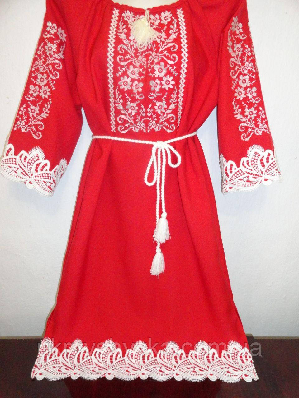 0b0873e4f8e049 Жіноче плаття червоного кольору