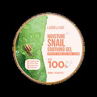 Увлажняющий гель с муцином улитки Lebelage Moisture Snail 100% Soothing Gel, 300 мл, фото 1