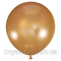 """Латексный шарик 30"""" металлик Gold 025 (золото) 1 шт Мексика"""