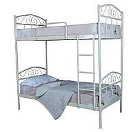 Кровать двухъярусная металлическая Элис Люкс детская подростковая 200х90, бежевая