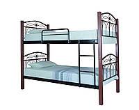 Кровать двухъярусная металлическая Элизабет подростковая детская 200х90, черная
