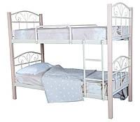 Кровать двухъярусная металлическая Лара Люкс Вуд подростковая детская с деревом 200х90, черная