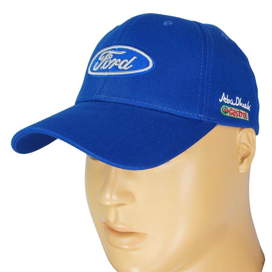 Синяя мужская хлопковая кепка 0250 blue
