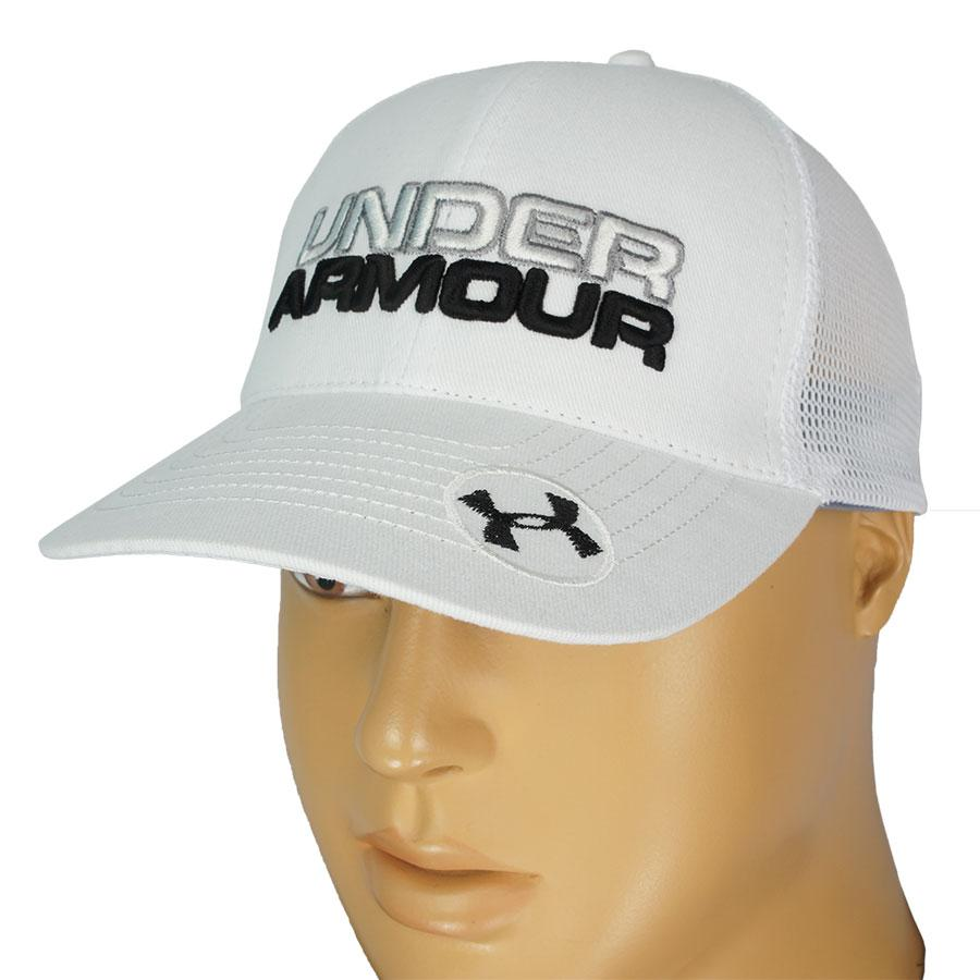 Белая стильная бейсболка UNDER ARMOUR 0250 white  для мужчин