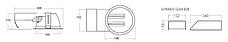 Б/у Встраиваемый потолочный светильник ОМS Downlight 202, фото 3
