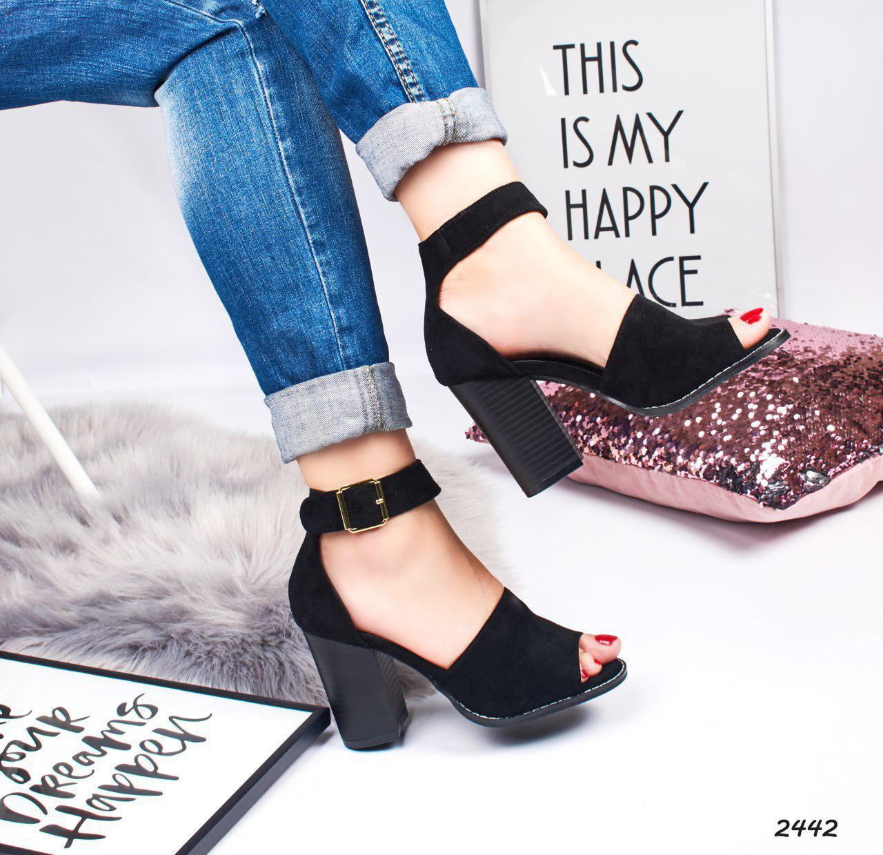 7c5e8f5d5c57 Классические женские босоножки на каблуке черные, размеры: 41: продажа,  цена в ...