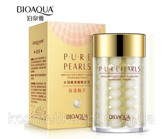 . Увлажняющий крем с натуральной жемчужной пудрой Pure Pearls Bioaqua 60 мл