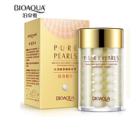 . Увлажняющий крем с натуральной жемчужной пудрой Pure Pearls Bioaqua 60 мл, фото 1