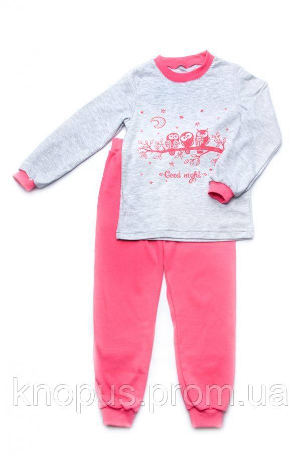 Пижама для девочки  (интерлок), светло-розовая, Модный карапуз, размеры 110-122