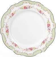Набор 8 фарфоровых обеденных тарелок Bristol Ø27.5см, мятный цвет, фото 1