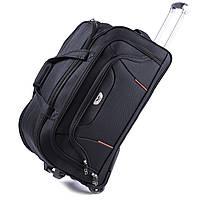 Дорожная сумка на колесах Wings 1056 Большая (L) Чёрная