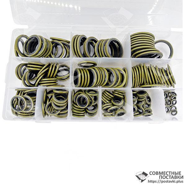 Набор латунных шайб с резиновыми кольцами диам. 6 - 30 мм