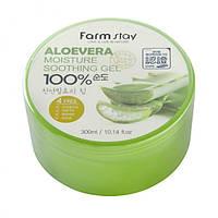 Многофункциональный гель с экстрактом алое вера Farm Stay Aloe vera Moisture Soothing Gel 100%, 300 мл