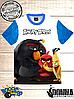 Футболка 3D Angry birds Три товариша