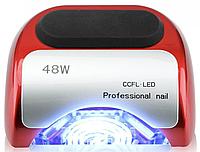 Лампа для маникюра 48W гибридная CCFL + LED красная | Professional nail