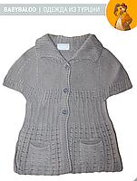 Жилетка детская вязанная девочка (от 1 до 3 лет)