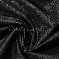 Флизелин клеевой точечный черный, ширина 90см