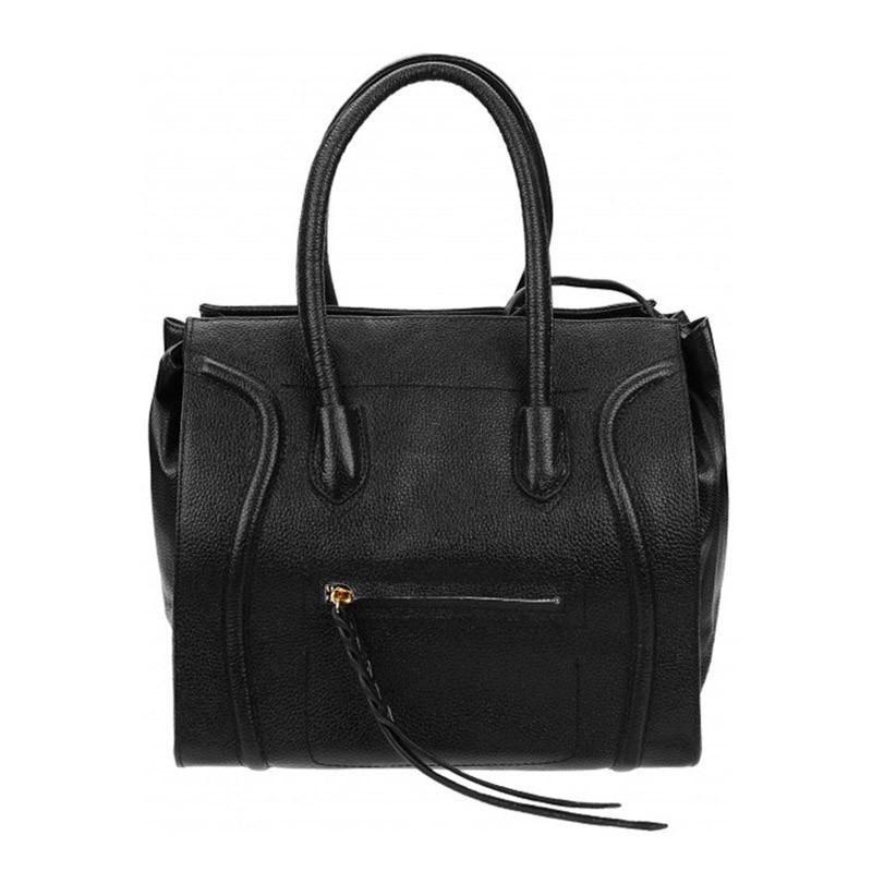 edf5dc5bb8d5 Женская Сумка Кожаная Borsa Leather 10t222-black — в Категории ...