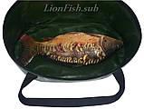 Складное Ведро LionFish.sub Сумка для Рыбалки, Охоты, Походов – Овальное, 32л ЖЁЛТОГО ЦВЕТА, фото 7