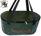 Складное Ведро LionFish.sub Сумка для Рыбалки, Охоты, Походов – Овальное, 32л ЖЁЛТОГО ЦВЕТА, фото 9