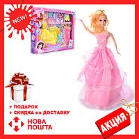 Кукла 9342 C с длинными волосами, в нарядном платье + одежда, аксессуары | куколка для девочки