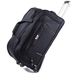 Дорожная сумка на колесах Wings 1056 Размер (S) Чёрная