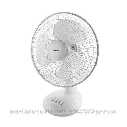 Настольный вентилятор DOMOTEC MS-1625 White, мини вентилятор 3 режима