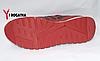 Мужские кожанные кроссовки Splinter, перфорация, комбинированые красные с черными вставками, серая подошва, фото 5