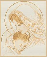 АМП-002. Набір алмазної мозаїки Мадонна і дитя (сепія).