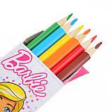 """Олівці 6 кольорів """"Barbie"""", фото 2"""