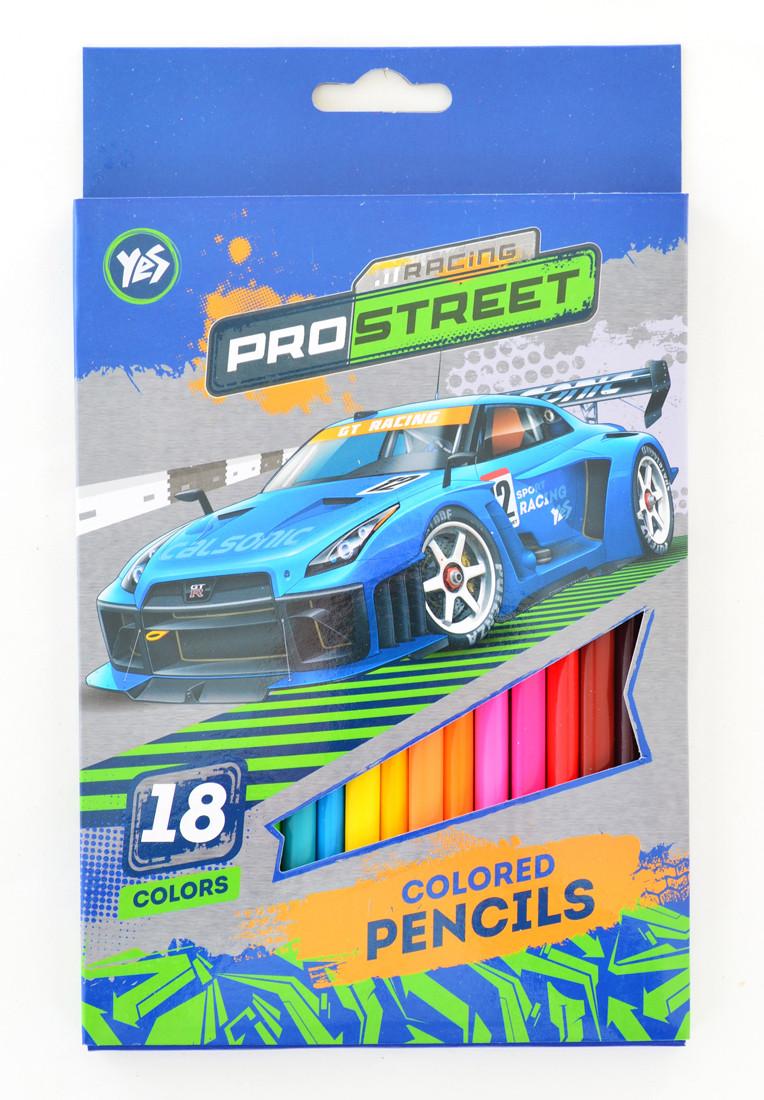 """Карандаши 18 цветов """"Street racing"""""""