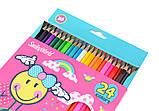 """Олівці 24 кольори """"Smiley World""""(pink), фото 2"""