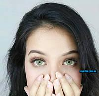 Зеленые линзы для карих глаз Pitchy Green