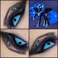 Ультра голубые линзы для карих глаз