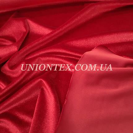 Ткань бархат стрейч красный , фото 2