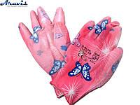 Перчатки рабочие женские цветок
