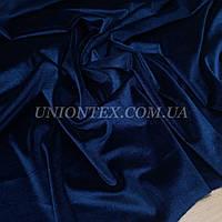 Ткань бархат стрейч темно-синий