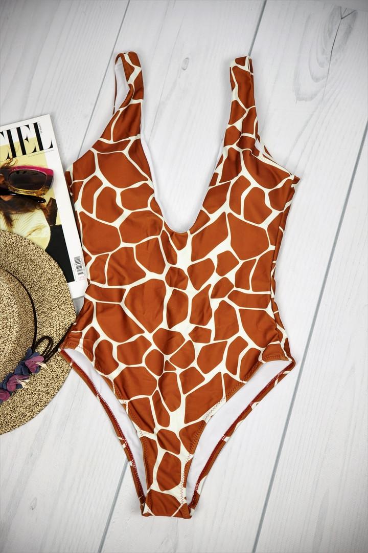 Слитный купальник жираф