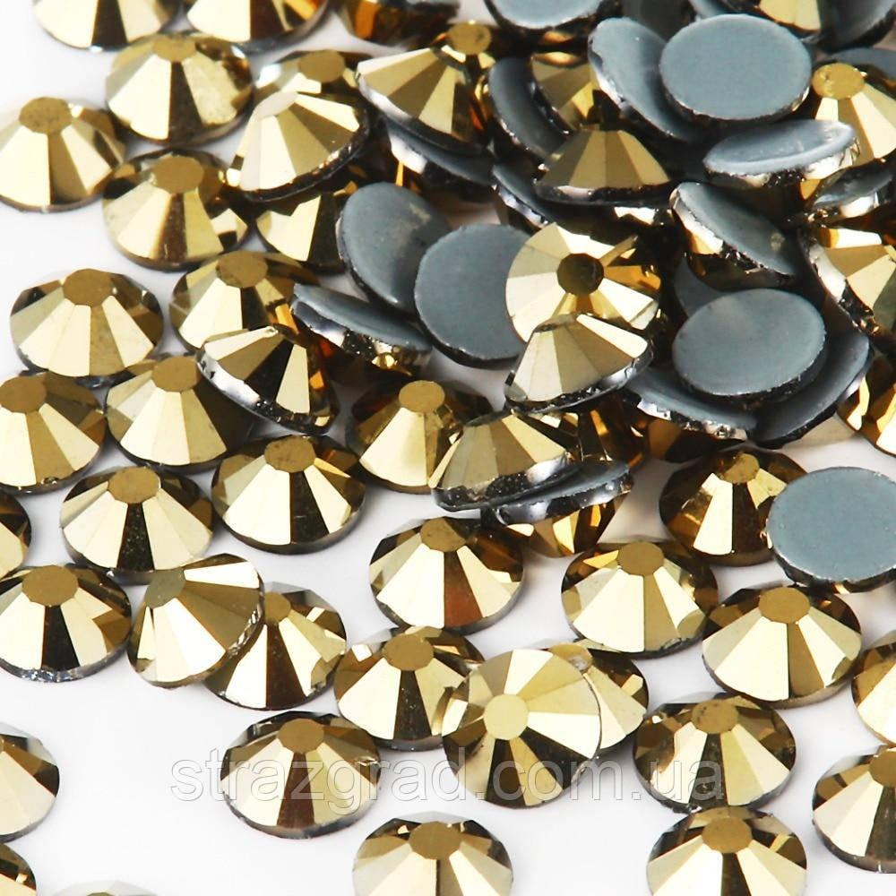 Стрази термоклеевие Premium GOLD AURUM SS 20 Hot Fix 100 шт.