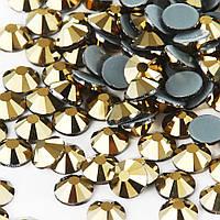 Стразы термоклеевые Premium GOLD AURUM SS16 Hot Fix 100 шт.
