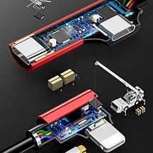Переходник Lightning Usams iP Male to iP+iP Female AU02 (Черный), фото 3